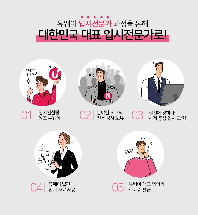 유웨이 입시전문가 과정을 통해 대한민국 대표 입시전문가로!