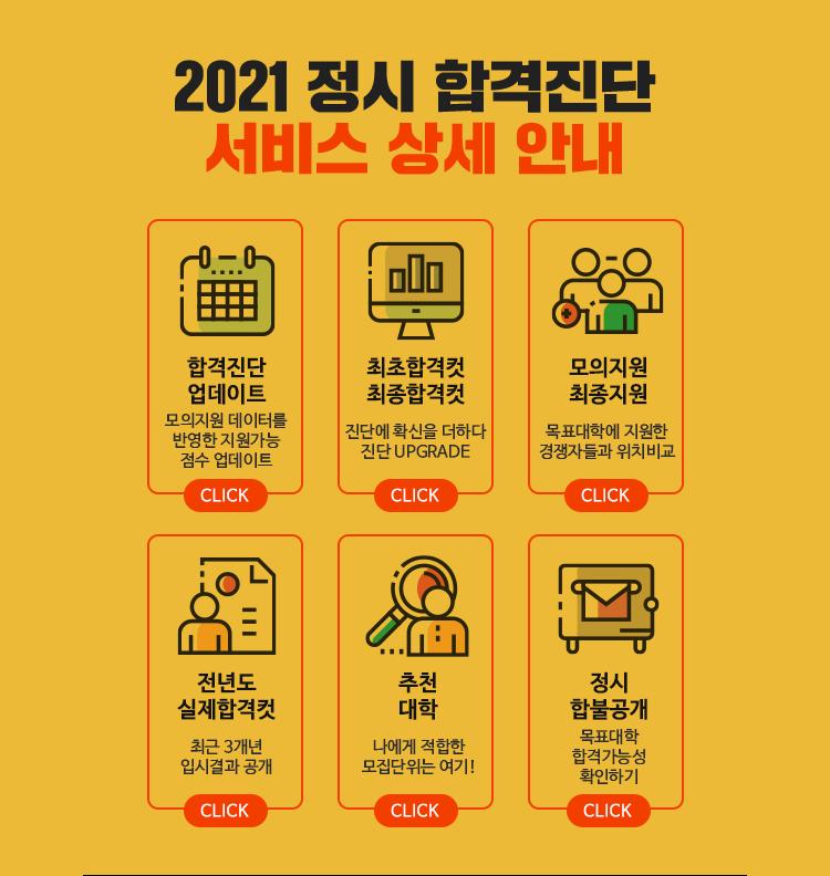 2021 정시 합격진단 서비스 상세 안내